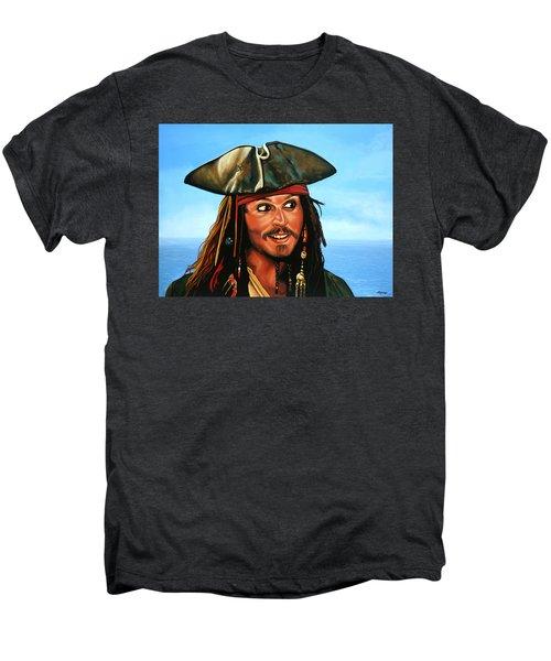 Captain Jack Sparrow Painting Men's Premium T-Shirt