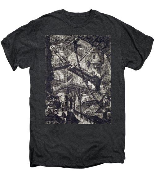 Carceri Vii Men's Premium T-Shirt by Giovanni Battista Piranesi