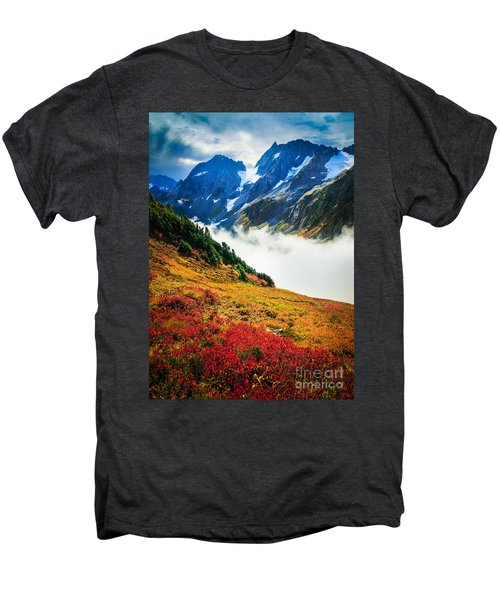 Cascade Pass Peaks Men's Premium T-Shirt by Inge Johnsson