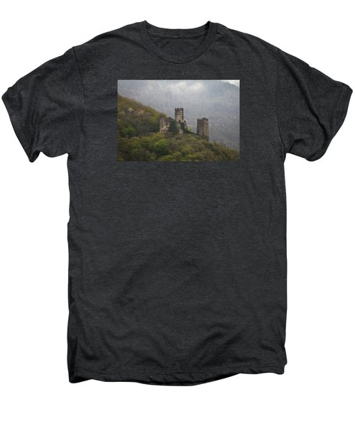 Castle In The Mountains. Men's Premium T-Shirt