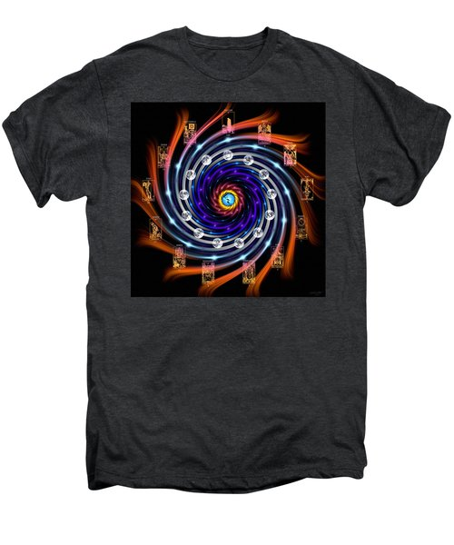 Celtic Tarot Moon Cycle Zodiac Men's Premium T-Shirt