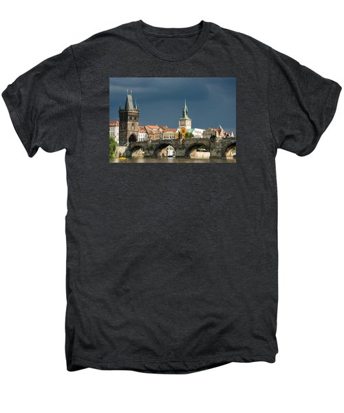 Charles Bridge Prague Men's Premium T-Shirt by Matthias Hauser