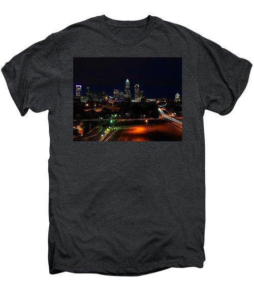 Charlotte Nc At Night Men's Premium T-Shirt