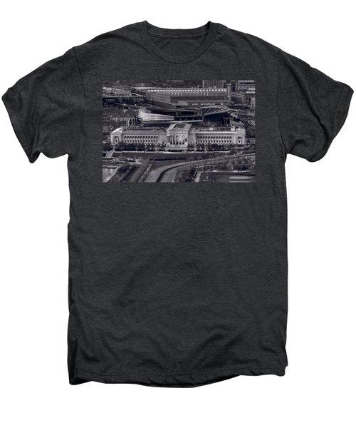 Chicago Icons Bw Men's Premium T-Shirt by Steve Gadomski