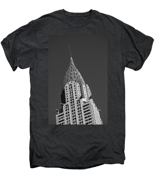 Chrysler Building Bw Men's Premium T-Shirt by Susan Candelario