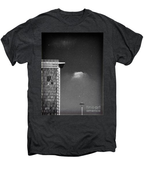 Men's Premium T-Shirt featuring the photograph Cloud Lamp Building by Silvia Ganora