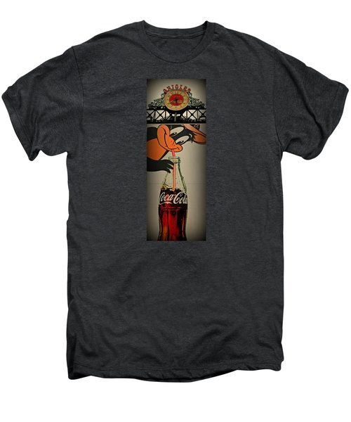 Coca Cola Orioles Sign Men's Premium T-Shirt by Stephen Stookey