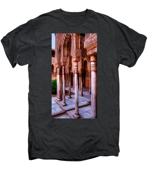 Columns Of The Court Of The Lions - Painting Men's Premium T-Shirt