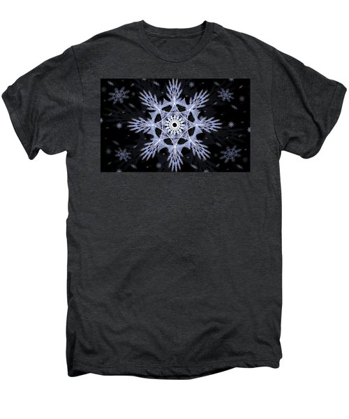 Cosmic Snowflakes Men's Premium T-Shirt