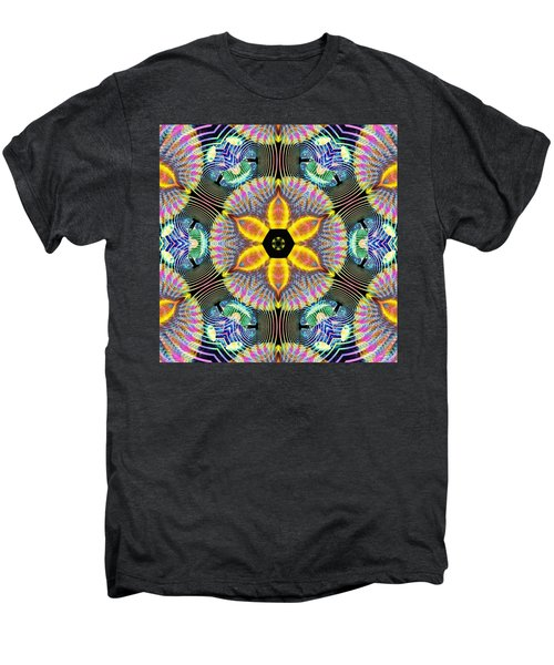 Cosmic Spiral Kaleidoscope 13 Men's Premium T-Shirt