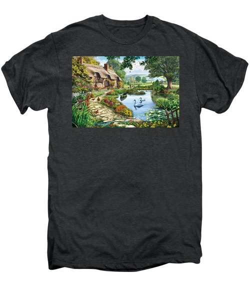 Cottage By The Lake Men's Premium T-Shirt