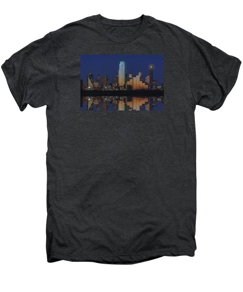 Dallas Aglow Men's Premium T-Shirt by Rick Berk