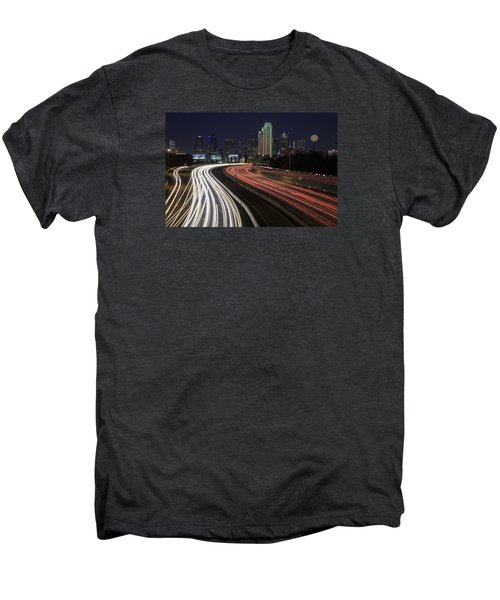 Dallas Night Men's Premium T-Shirt by Rick Berk