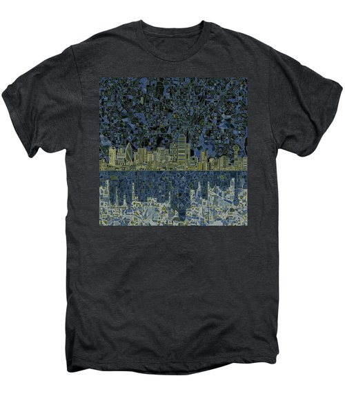 Dallas Skyline Abstract 2 Men's Premium T-Shirt
