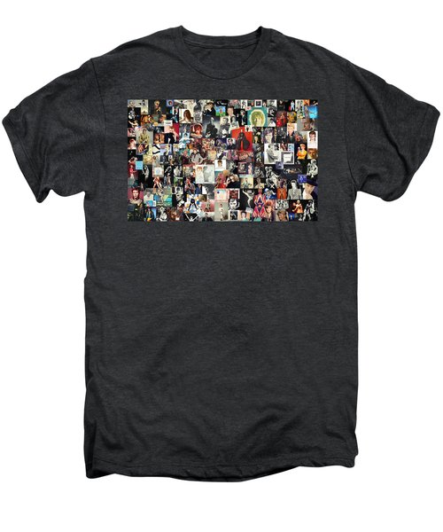 David Bowie Collage Men's Premium T-Shirt