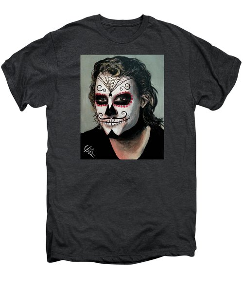 Day Of The Dead - Heath Ledger Men's Premium T-Shirt by Tom Carlton