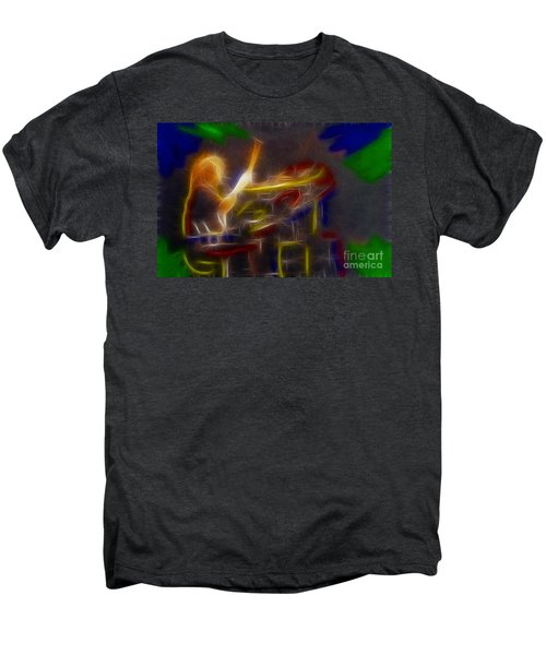 Def Leppard-adrenalize-gf24-ricka-fractal Men's Premium T-Shirt by Gary Gingrich Galleries