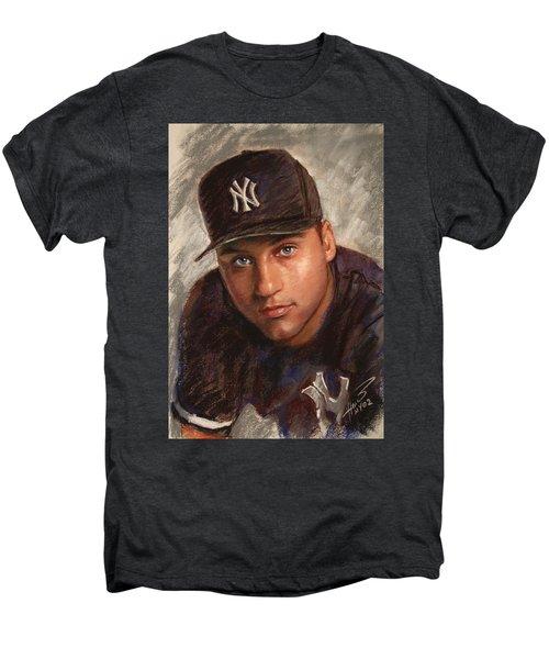Derek Jeter Men's Premium T-Shirt by Viola El