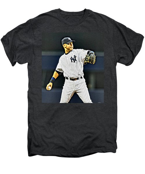 Derek Jeter Men's Premium T-Shirt by Florian Rodarte
