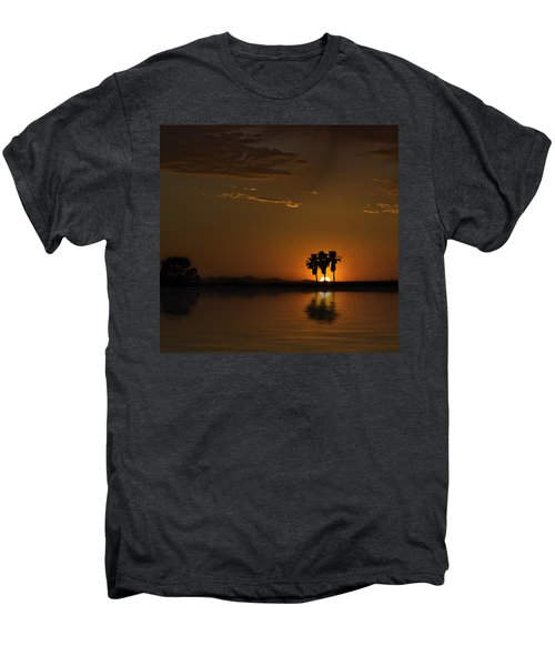 Desert Sunset Men's Premium T-Shirt by Lynn Geoffroy