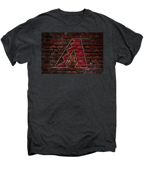 Diamondbacks Baseball Graffiti On Brick  Men's Premium T-Shirt