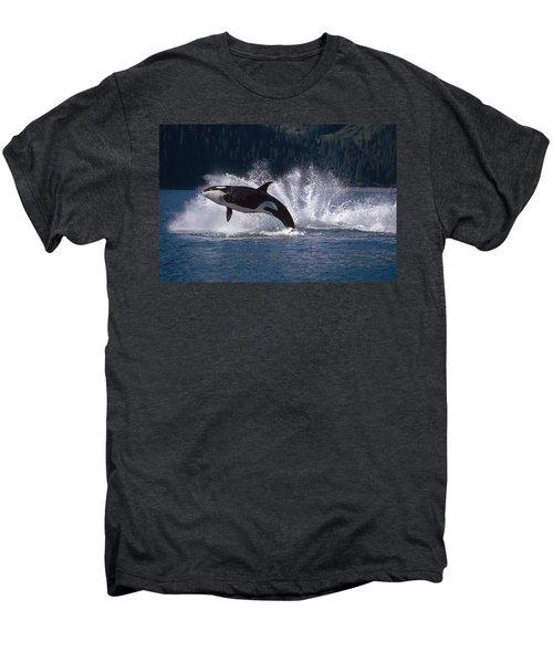 Double Breaching Orcas Bainbridge Men's Premium T-Shirt