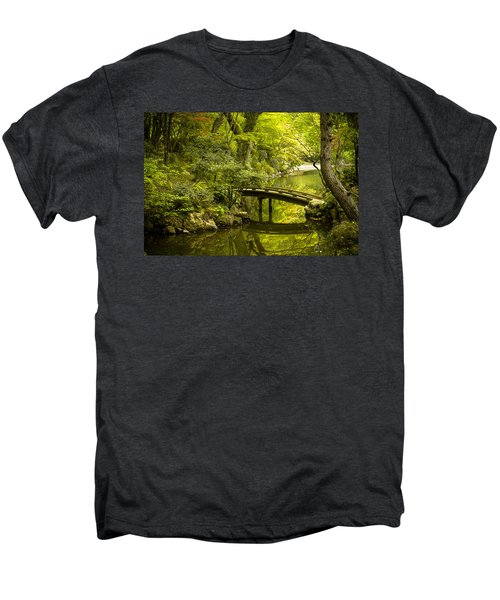 Dreamy Japanese Garden Men's Premium T-Shirt by Sebastian Musial
