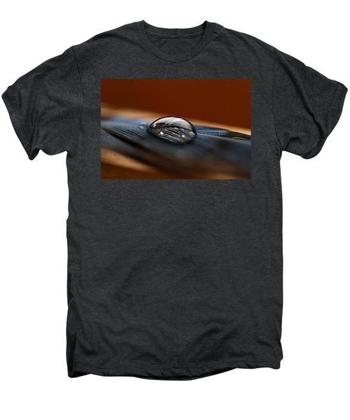 Drop On A Bluejay Feather Men's Premium T-Shirt