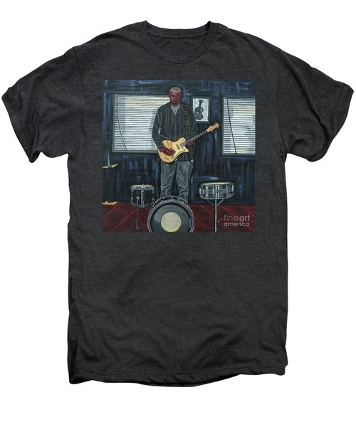 Drums And Wires Men's Premium T-Shirt by Sandra Marie Adams