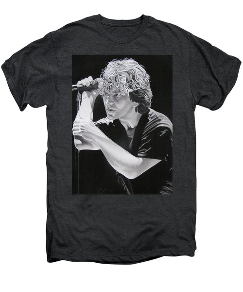 Eddie Vedder Black And White Men's Premium T-Shirt
