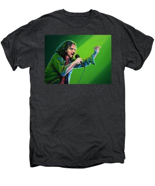 Eddie Vedder Of Pearl Jam Men's Premium T-Shirt by Paul Meijering