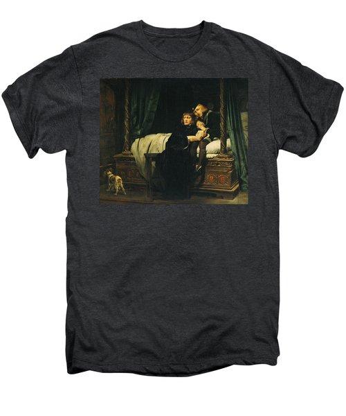 Edward V 1470-83 And Richard, Duke Of York In The Tower Les Enfants Dedouard 1830 Oil On Canvas See Men's Premium T-Shirt by Hippolyte Delaroche