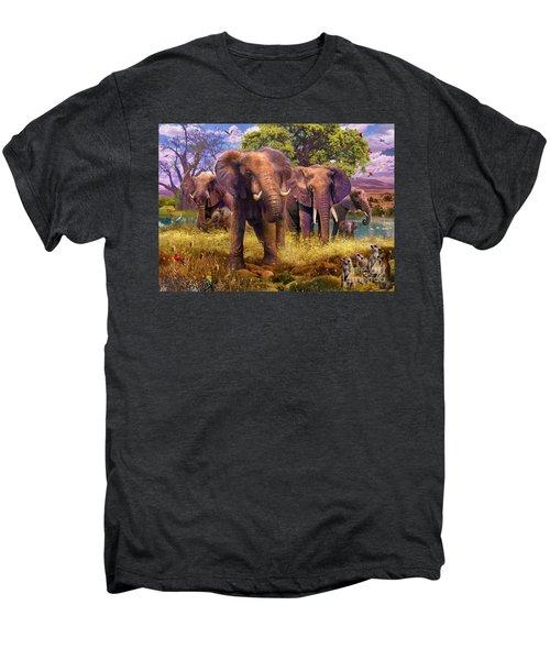 Elephants Men's Premium T-Shirt by Jan Patrik Krasny