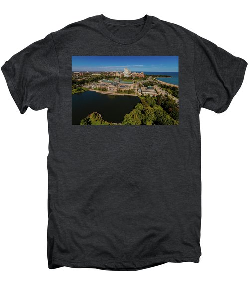 Elevated View Of The Museum Of Science Men's Premium T-Shirt