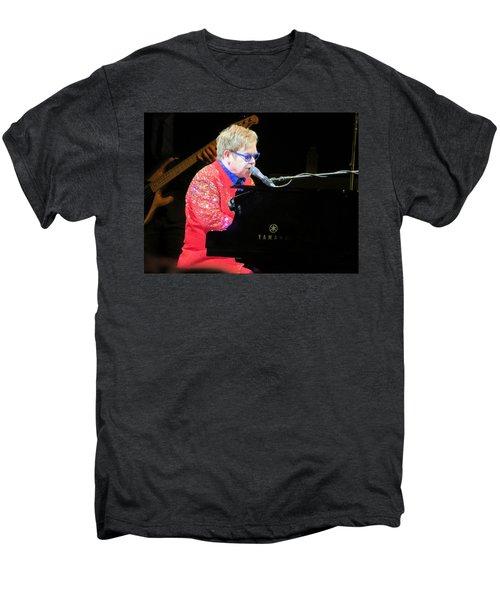 Elton John Live Men's Premium T-Shirt by Aaron Martens