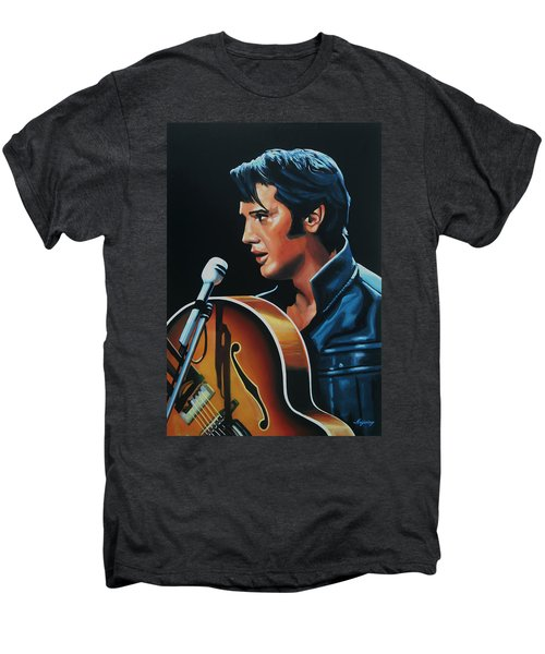 Elvis Presley 3 Painting Men's Premium T-Shirt