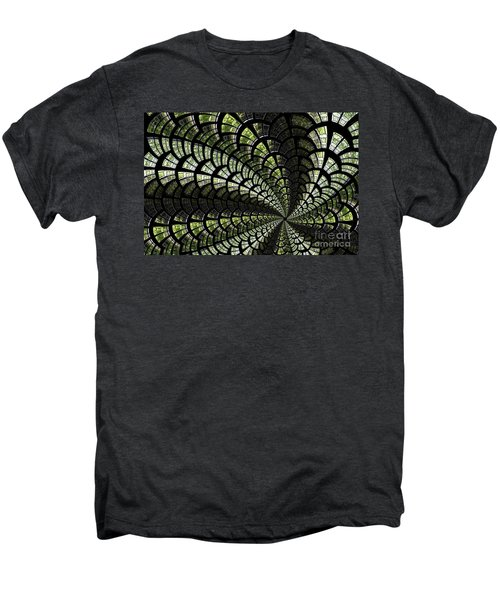 Men's Premium T-Shirt featuring the photograph Emerald Whirl. by Clare Bambers