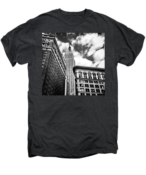 Empire State Building And New York City Skyline Men's Premium T-Shirt