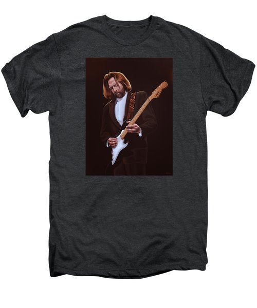 Eric Clapton Painting Men's Premium T-Shirt by Paul Meijering