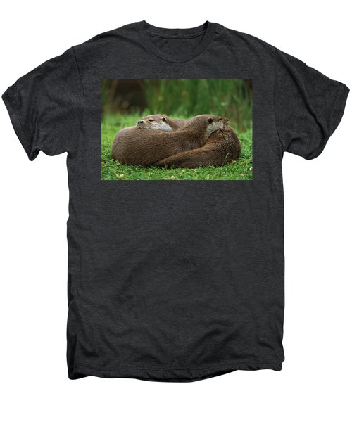 European River Otter Lutra Lutra Men's Premium T-Shirt by Ingo Arndt