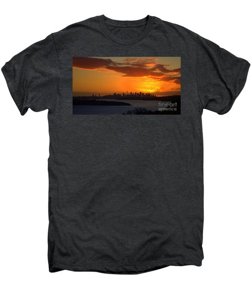 Men's Premium T-Shirt featuring the photograph Fire In The Sky by Miroslava Jurcik
