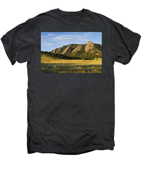 Flatirons From Chautauqua Park Men's Premium T-Shirt
