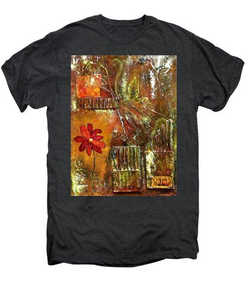 Flowers Grow Anywhere Men's Premium T-Shirt by Bellesouth Studio