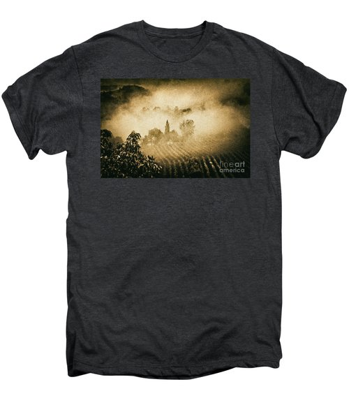 Men's Premium T-Shirt featuring the photograph Foggy Tuscany by Silvia Ganora