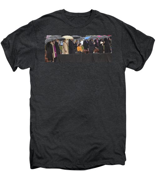 Former Us President Bill Clinton Men's Premium T-Shirt by Panoramic Images