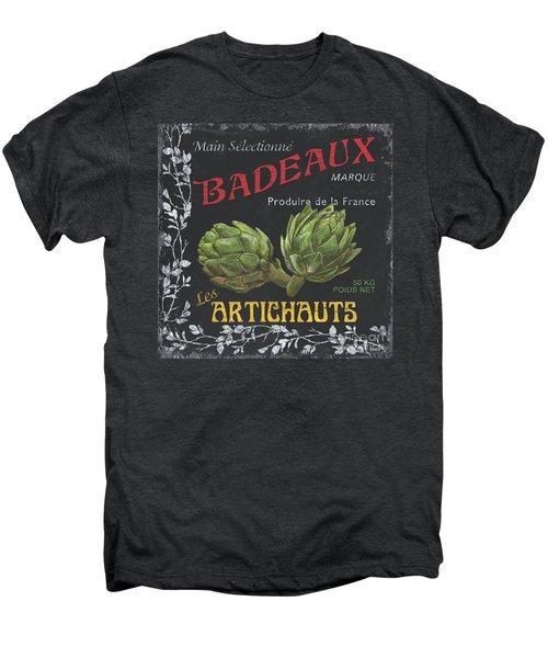 French Veggie Labels 1 Men's Premium T-Shirt by Debbie DeWitt