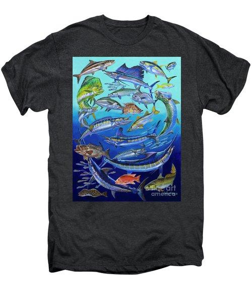 Gamefish Collage In0031 Men's Premium T-Shirt by Carey Chen