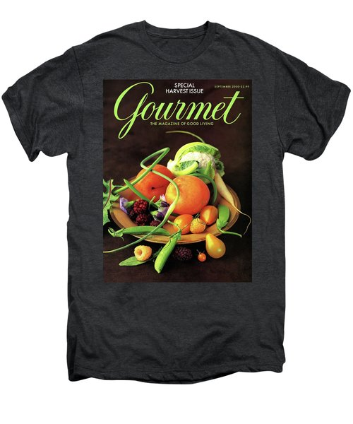Gourmet Cover Featuring A Variety Of Fruit Men's Premium T-Shirt