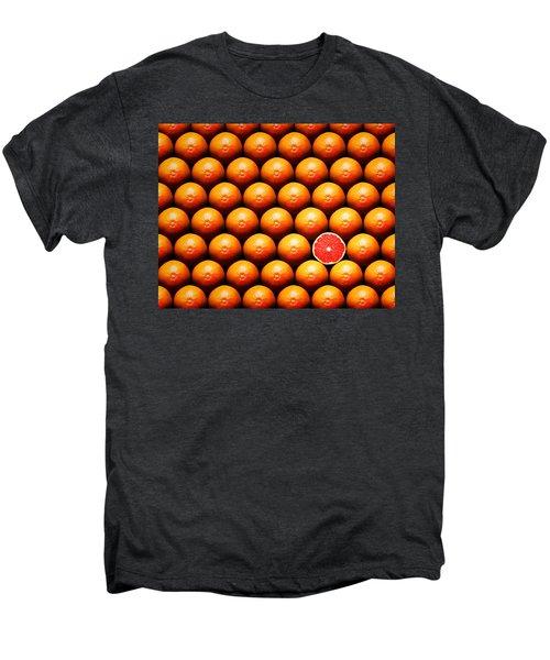 Grapefruit Slice Between Group Men's Premium T-Shirt by Johan Swanepoel