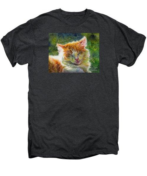 Happy Sunbathing 2 Men's Premium T-Shirt by Hailey E Herrera